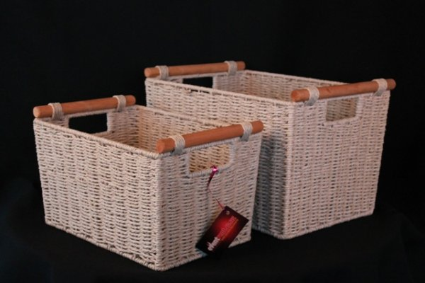 Basket seagrass, cream - medium