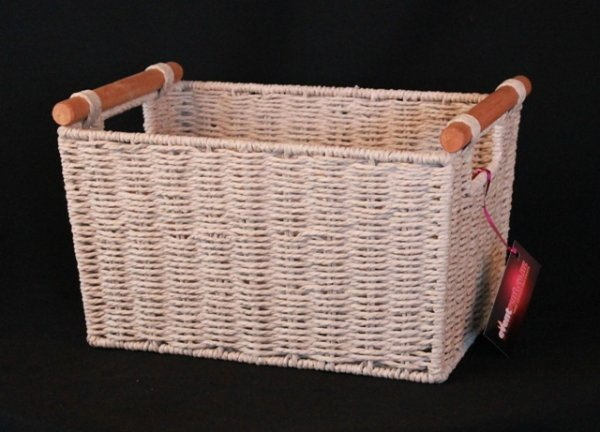 Basket seagrass, cream - small