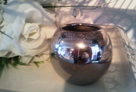 Tea light holder, chrome