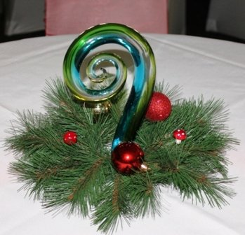 Christmas decoration, Willow grass - gold glittere