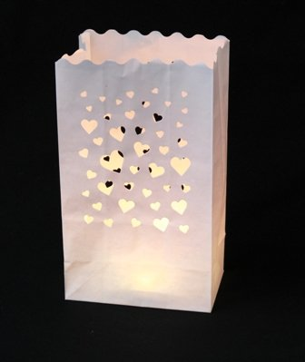 Candle bags - hearts (12's) SALE