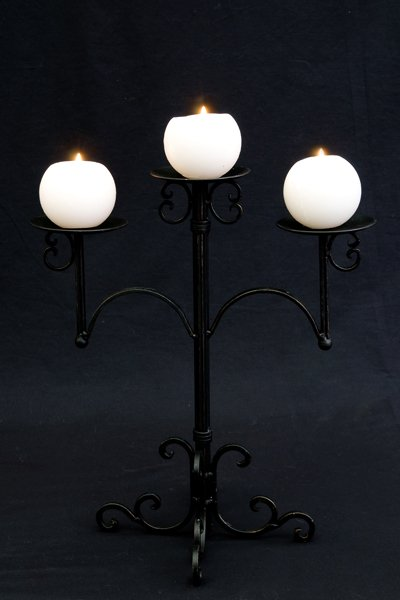 Candle holder, Single (black)