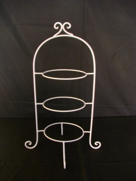 Cake stand, 3 tier - cream (plates not included)