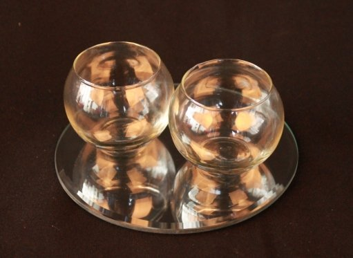 Tea light holder,  sphere