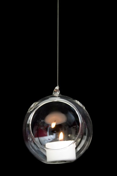 Hanging tea light Holder - Teardrop