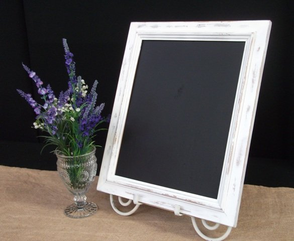 Blackboard, double sided - white