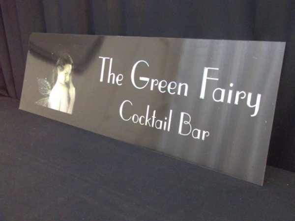 Bar sign, Green Fairy Bar