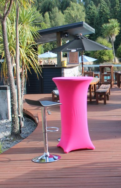 Bar leaner cover, pink