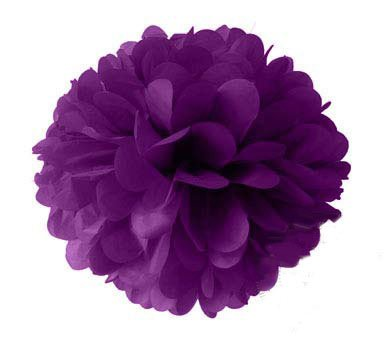 Paper pom pom - Purple (SALE Item)