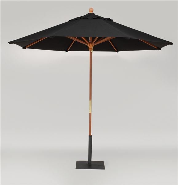 Market umbrella, black