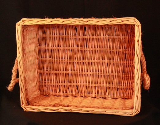 Basket, rectangle cane - medium