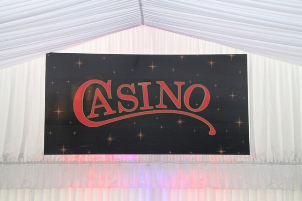 Casino sign, large coreflute