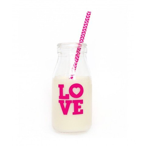 Milk bottle, love