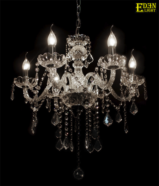 Chandelier, crystal glass