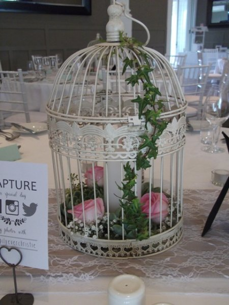 Birdcage large - antique white