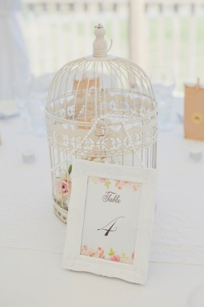 Birdcage medium - antique white
