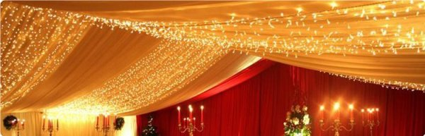 Fairylight string, LED 12m (warm white)