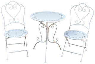 Registry table & chairs, olive leaf - whitewash