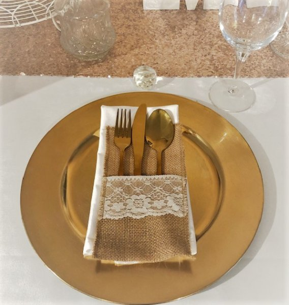 Charger plate, gold (no diamante)