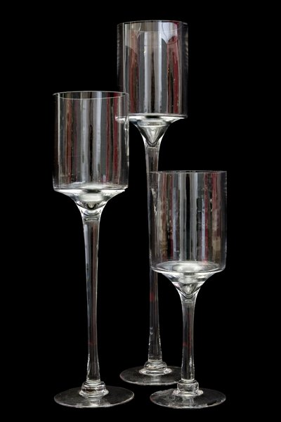 Stemmed Cylinder Glass Set
