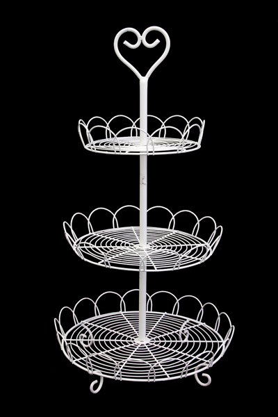Cake stand, 3 tier white