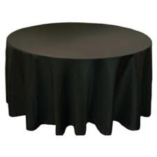 Tablecloth round, 1.8m - black