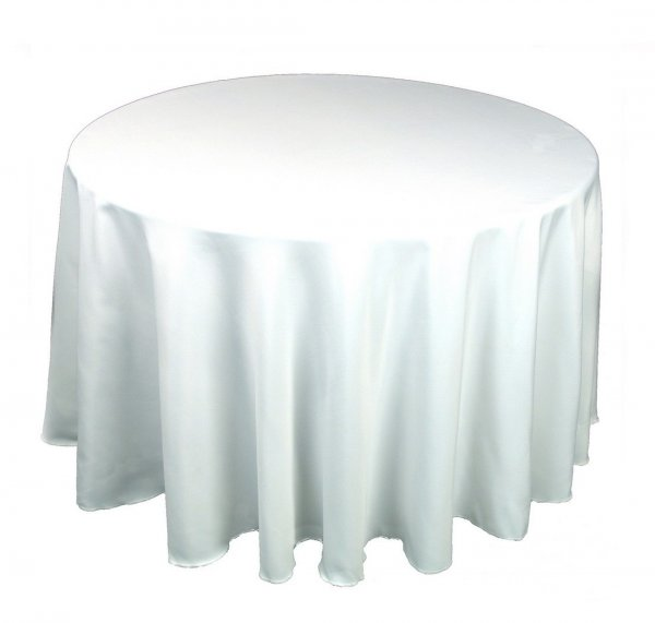 Tablecloth round, 1.8m - white