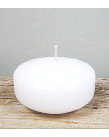 Floating candle disk, white SALE