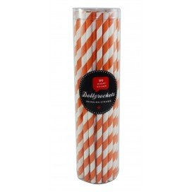 Paper straws - orange SALE (Pkt 50)