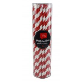 Paper straws - red SALE (Pkt 50)